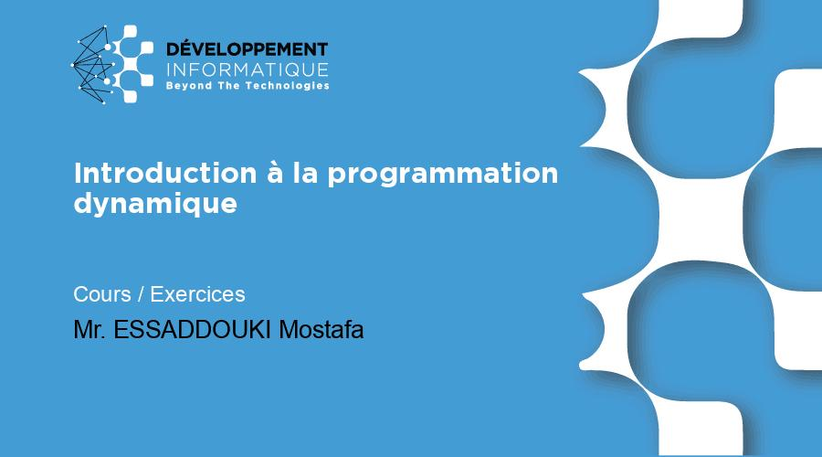 Introduction à la programmation dynamique