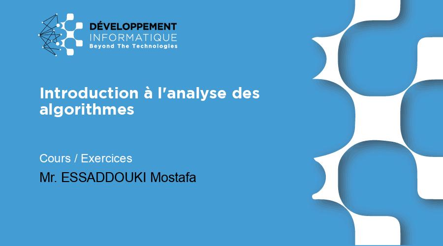 Introduction à l'analyse des algorithmes